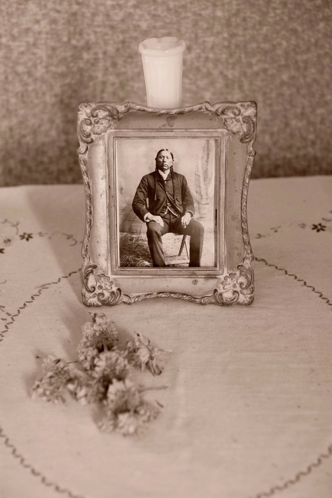 Stock Photo: 1597-171008 USA, United States, America, North America, Oklahoma, Comanche, Cache, house, abandoned, historic, register, national, chief, indian, interior, Quanah Parker