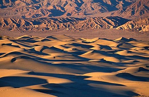 Stock Photo: 1597-17152 California, Death Valley, national park, Sand Dunes, USA, America, United States, landscape, desert, North America