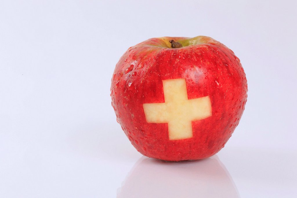 Stock Photo: 1597-172455 1, agrarian, apple, detail, flag, flag, banner, fruit, health, background, pomes, cross, close_up, fruit, quality, reflection, rain, raindrop, Switzerland, Swiss cross, reflection, studio, Swiss made, symbol, drop, coat of arms, cross water, water drop, d. 1, agrarian, apple, detail, flag, flag, banner, fruit, health, background, pomes, cross, close_up, fruit, quality, reflection, rain, raindrop, Switzerland, Swiss cross, reflection, studio, Swiss made, symbol, drop, coat of arms, cross water, w