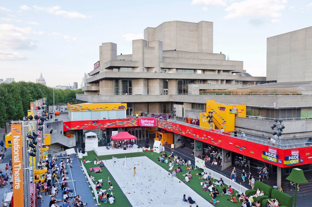 England, London, Southwark, South Bank, Southbank Centre, National Theatre : Stock Photo