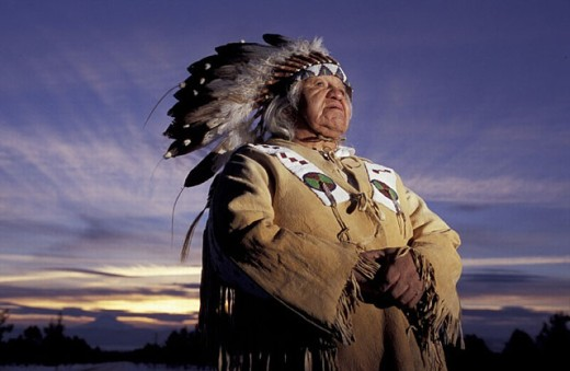 Stock Photo: 1597-17411 Chief Delvis Heath, Oregon, USA, America, United States, Warm Springs Indian Reservation, Warm Springs tribe, man, N