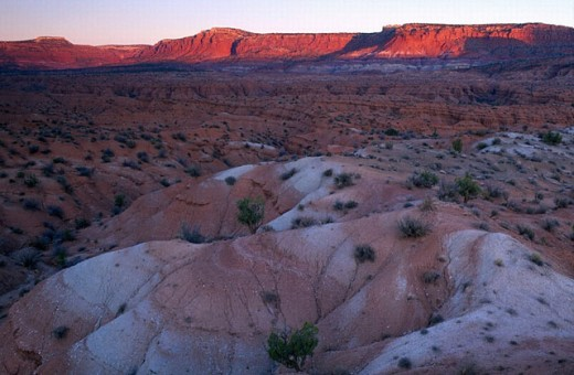 Grand Staircase National Monument, USA, America, United States, Utah, Vermilion Cliffs, twilight, landscape, near Ol : Stock Photo