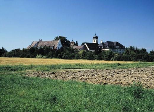 Baden_Wuerttemberg, cheerful home, country, Germany, Europe, Maltese´s, castle, Markgrafler Land, Malteserschloss : Stock Photo
