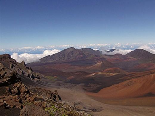 Stock Photo: 1597-17864 clouds, desert, scenery, landscape, volcanism, volcano