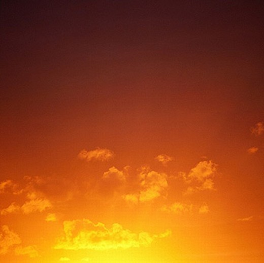 afterglow, alpenglow, colorful, clouds, weather, sky, heavens, orange, sun : Stock Photo