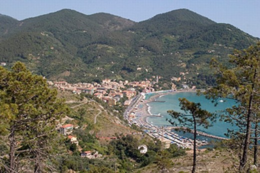 Stock Photo: 1597-18315 bay, coast, coast place, harbor, Italy, Europe, mountains, port, scenery, landscape, sea, village