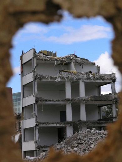 Stock Photo: 1597-18991 Abort, Building, Buildings, Cities, City, Color, Colour, Construction, Demolition, Destruction, Dilapidated, Home, H