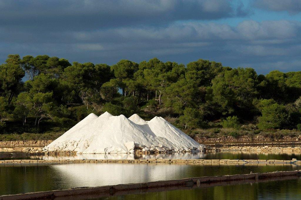 Stock Photo: 1597-190280 Balearic Islands, Majorca, Spain, Europe, saltwork, salt production, Colonia Sant Jordi, outside, nobody,