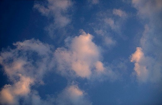 cloud, sky, sky, heaven, clouds, white, blue, weather, mood, pink : Stock Photo
