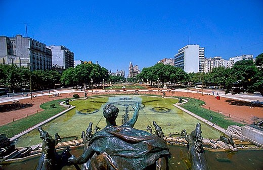 Stock Photo: 1597-25311 South America, Argentina, Buenos Aires, Plaza del Congreso, well, town, city,