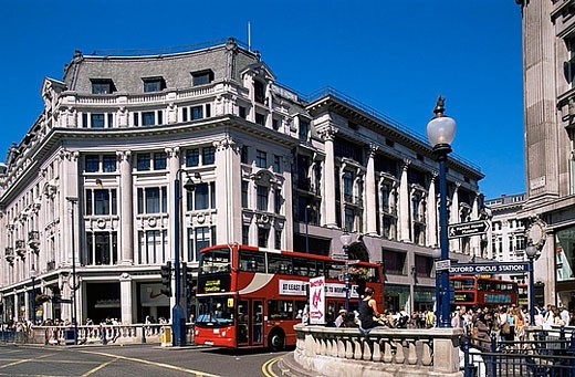 Stock Photo: 1597-27087 UK, United Kingdom, Great Britain, Europe, Britain, England, Europe, London, Oxford Circus, Oxford Street, Street Scen