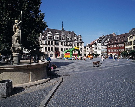Stock Photo: 1597-28648 Naumburg, city hall, Late_Gothic, wells, marketplace, Old Town, town, city, nature reserve, Saale Unstrut Triasland, G