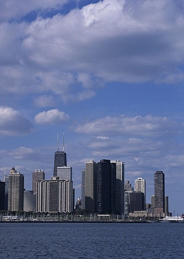 USA, America, United States, North America, Illinois, Chicago, skyline, town, city, view, water : Stock Photo