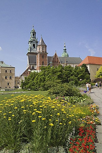 Stock Photo: 1597-29401 Wawel Cathedral, Wawel Hill, Wawel, cathedral, hill, Krakow, Cracow, Poland, EU, Europe, Eastern, European, travel, ho