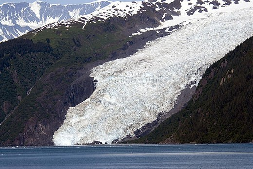Stock Photo: 1597-29526 scenery, landscape, glacier, mountains, ice, snow, coast, sea, Harriman fjord, Prince William Sound, USA, America, Uni
