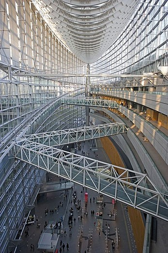 Stock Photo: 1597-29684 Japan, Asia, Tokyo, Tokyo International forum, architecture, moulder, Rafael Vinoly, inside, building, construction, a