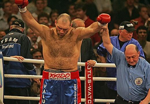 winner, world champion, boxer, spectators, boxing match, fight, battle, boxing, box gala, Basel, in 2007, January, Swi : Stock Photo