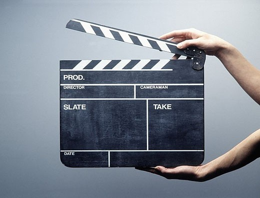 Stock Photo: 1597-30731 Action, Beginning, Beginnings, Cinema, Clapperboard, Clapperboards, Color, Colour, Concept, Concepts, Film, Film indus