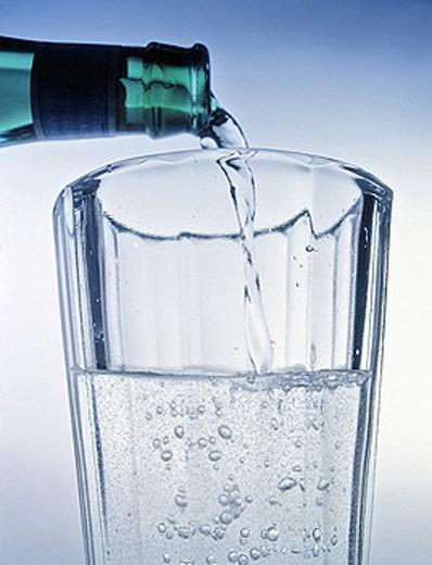 Beverage, Beverages, BlueBottle, Color, Colour, Drink, Drinking glass, Drinking glasses, Drinking water, Drink, Drinks : Stock Photo