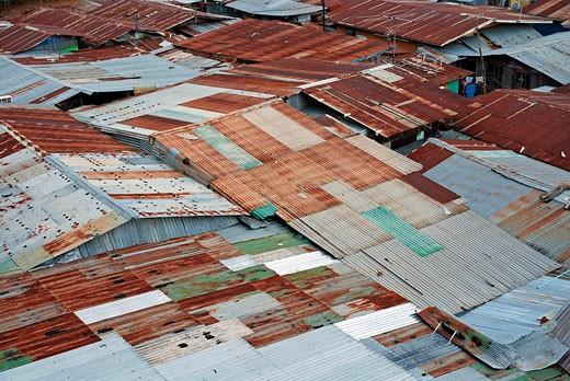 Stock Photo: 1597-31754 Chao Phraya, river, flow, Bangkok, slums, slum, poverty, worker, settlement, working_class settlement, cheap wage, wat