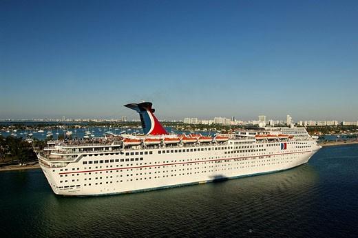 USA, America, United States, North America, Miami, Imagination, Cruiser, Liner, Travel, Carnival Cruise Lines, cruise : Stock Photo