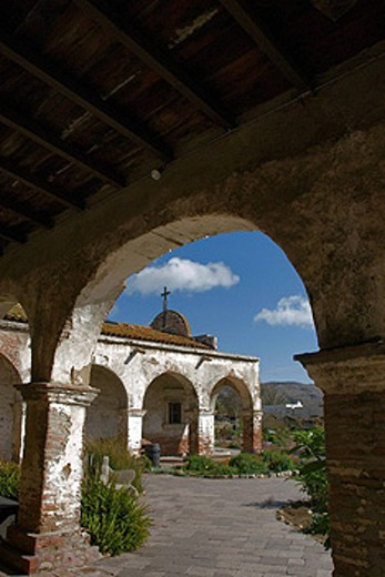 USA, America, United States, North America, California, Mission San Juan Capistrano, Historic, Old, Spanish, Ruins : Stock Photo