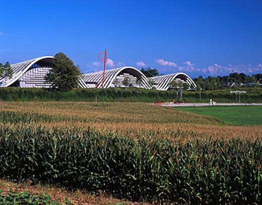 Stock Photo: 1597-34723 Switzerland, Europe, Zentrum Paul Klee, Museum of Art, Culture, Painter, Architecture, Modern, Renzo Piano, City of Be