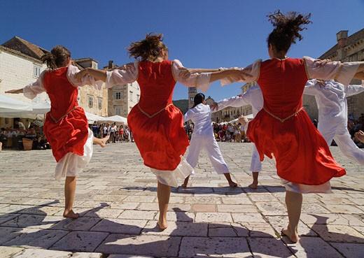 Stock Photo: 1597-34919 Croatia, Europe, Troupe of Jewish dancers, town, Hvar, Hvar Island, Dalmatia, Europe, troupe, Jewish, dancers, Hvar, i