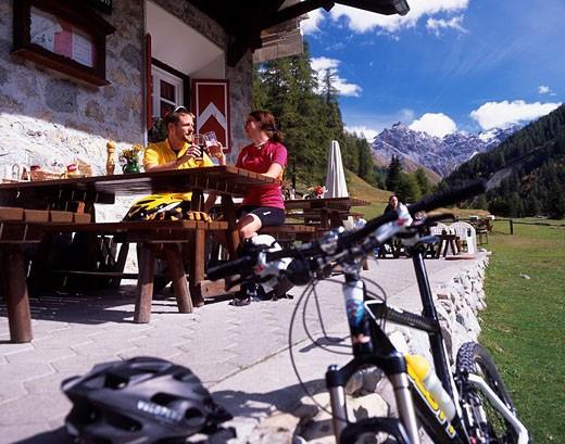 Switzerland, Europe, Val Trupchun, Engadine, Canton Grisons, Graubunden, Grisons, Swiss alps, mountains, Landscape, va : Stock Photo