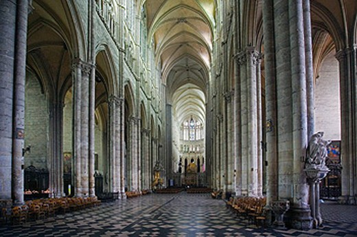 France, Europe, Amiens, Cathedral Notre Dame, Departement Somme, UNESCO, World heritage, inside, indoors, religious, R : Stock Photo