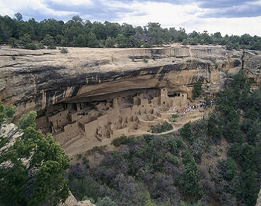 Cliff Dwellings, Colorado, native american, cliff houses, Mesa Verde, Spruce Tree House, USA, America, North America : Stock Photo