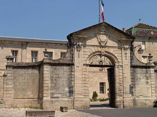 France, Europe, Hérault, Languedoc_Roussillion, Lodève, Ancien Palais Episcopal, palace, city hall, architecture, buil : Stock Photo