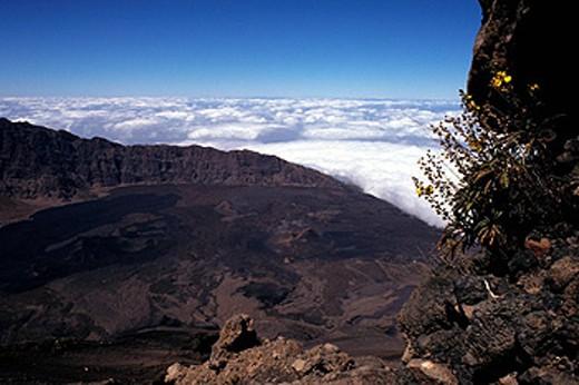 Stock Photo: 1597-36043 Cape Verde, Fogo island, Pico de Fogo, volcano, Chã das Caldeiras, landscape, black, volcanic, volcanism, treeless, ov