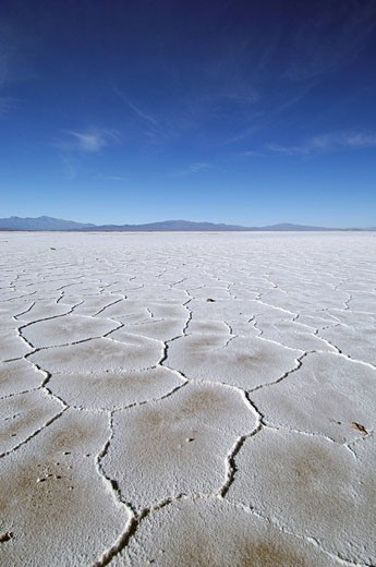 Argentina, South America, Salinas Grandes, Tres Morros, Salt Flats, flat, crust, Jujuy, desert, landscape, South America : Stock Photo