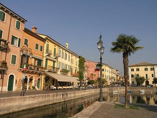 Lazise, Lake Garda, Region Veneto, Province of Verona, Europe, Italy, Europe, Northern Italy, old town, harbor, harbor : Stock Photo