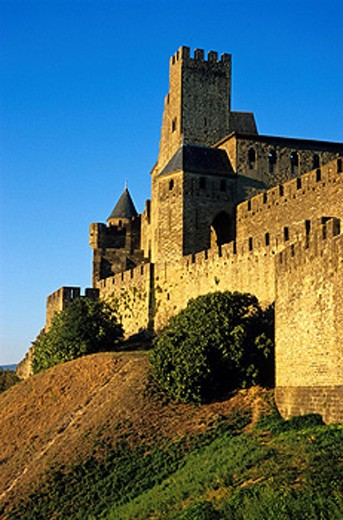Stock Photo: 1597-38433 France, Europe, Carcassonne, Aude, UNESCO, world heritage site, Albigensian Crusades, Architecture, castle, Europe, Fo