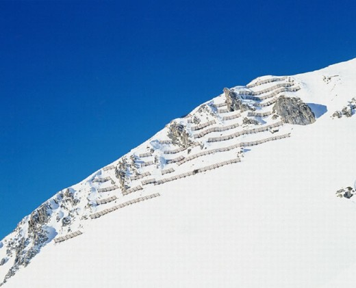 Stock Photo: 1597-3866  1998, Julier Pass, avalanche protection, Saint Moritz, Switzerland, Europe, Europe, Verbauung, avalanches,