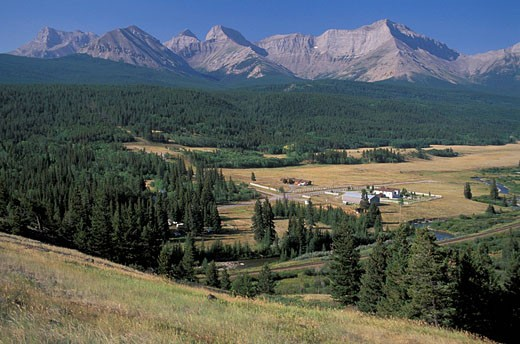 Canada, North America, America, Rocky Mountain front near Crowsnest pass, Alberta, landscape, mountains, mountain, con : Stock Photo