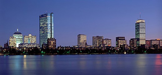 USA, America, United States, North America, Boston, Charles River, Massachusetts, skyline, view, panorama, town, city, : Stock Photo