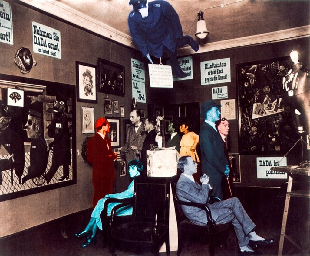 Berlin, 1920, Dada fair, Dadaism, Raoul Hausmann, Dr. Otto Burchardt, Johannes Bader, Wieland and Margarete Herzfelde, : Stock Photo