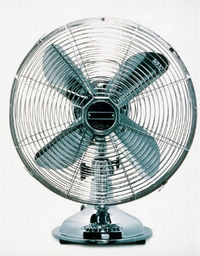 Stock Photo: 1597-4270  appliance, metal, modern, ventilating fan, propeller, design,