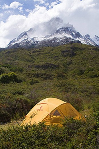 Stock Photo: 1597-43320 Chile, South America, Cuernos del Paine, Torres del Paine, national park, America, trip, mountain, Fitness, Landscape,