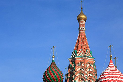 St. Basil cathedral, Moscow, Russia, Russian, Architecture, Building, Moscow, Red square, Kremlin, cathedral, blue sky : Stock Photo