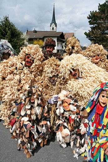Stock Photo: 1597-44816 Switzerland, Europe, Oberriet village, town, Oberriet, canton St. Gallen, Easter tradition, Easter monday, Eierlesefes