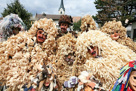 Stock Photo: 1597-44817 Switzerland, Europe, Oberriet village, town, Oberriet, canton St. Gallen, Easter tradition, Easter monday, Eierlesefes