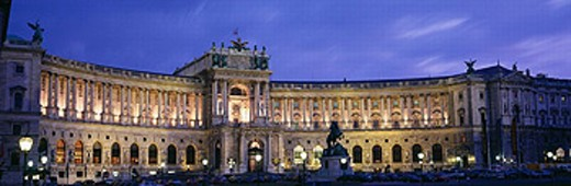 art_historical, museum, at night, Austria, Europe, panorama, Vienna, : Stock Photo