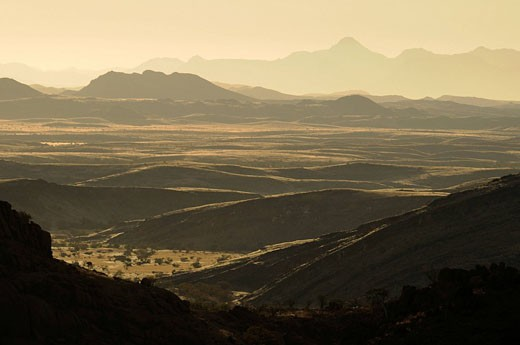 Landscape, near Serra Cafema Camp, Wilderness Safaris, Kaokoland, Kunene Region, Namibia, Africa, nature, scenery, mountains : Stock Photo
