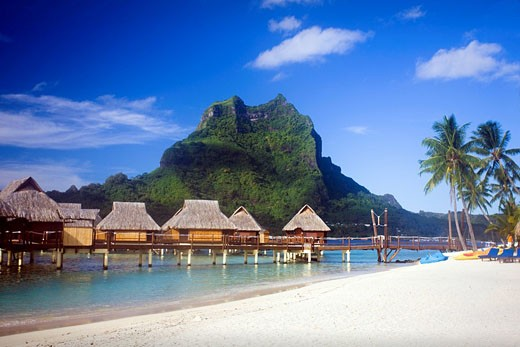 Tahiti, Society Islands, Bora Bora Island, Bora Bora Lagoon Resort : Stock Photo