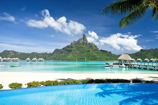 Tahiti, Society Islands, Bora Bora Island, Le Meridien Resort : Stock Photo