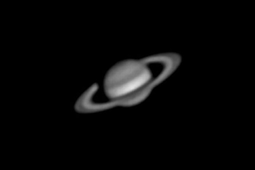 Stock Photo: 1597-6034  all, astronomy, planet, planet, Saturn, black and white, universe, macrocosm,